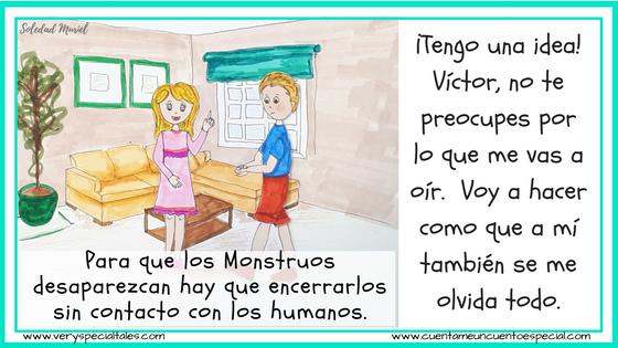 Cuentos Infantiles Monstruos Victor y Emma hablan de monstruos