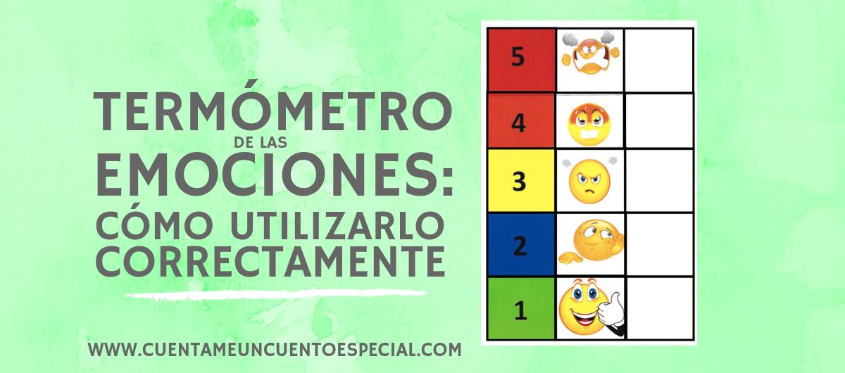 TERMOMETRO DE LAS EMOCIONES Actividades para expresar emociones en niños