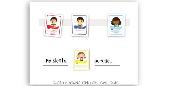 Tablero de Emociones preparado con tarjetas de las emociones imprimibles
