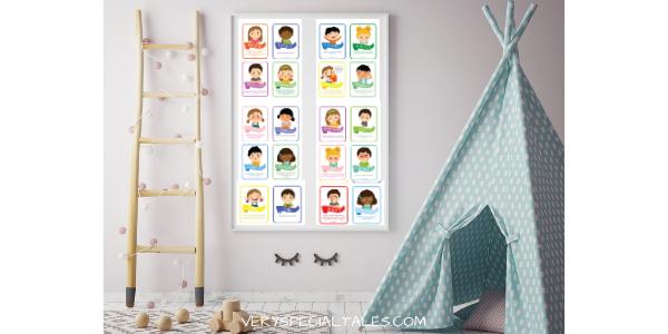 Poster de Emociones en Habitación Infantil