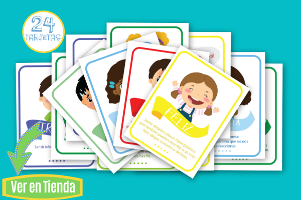 Tarjetas de las Emociones con ilustraciones de niños _ enlace a tienda
